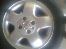 Corsa mags with 3 new tires 14 inch R2500 not neg
