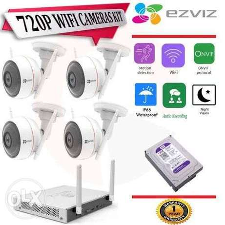 EZVIZ 4 Channel NVR Kit with 4 CH NVR and 4 IP Camera and HDD CS-BW242