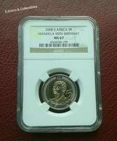 High grade MS67 Mandela R5 coin