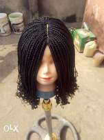 Short curly box braids and twisting at affordable price