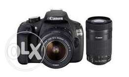 Canon 1200D+18-55mm lens And 75-300mm lens