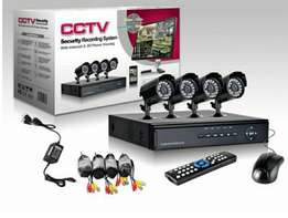 4CH full D1 H.264 DVR Security System with Four CMOS Indoor/Outdoor Ni