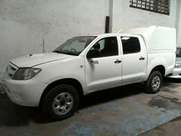 Toyota Hilux double cabin manual transmission pearl white colour