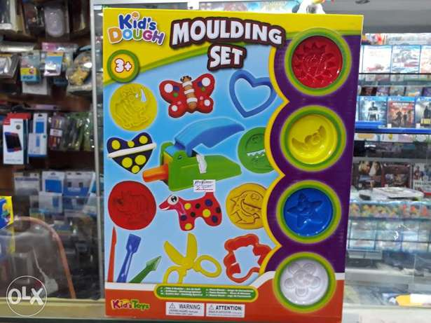 Moulding set for kids clay