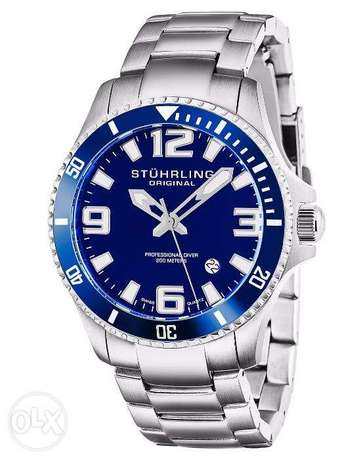 Stuhrling Original Men's 395.33U16 Aquadiver Regatta Analog Swiss Quar مصر الجديدة -  1