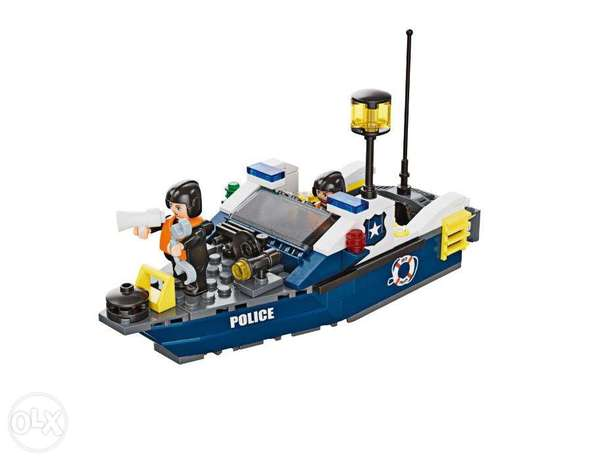 Playtive police boat toy