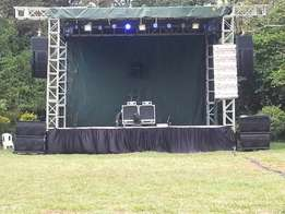 ask Sound system mc for road show puppet show