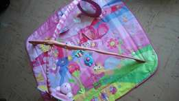 Baby playmat with musical kicka an mirror and toys