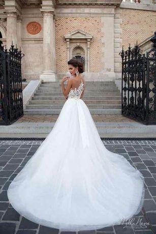 Milla Nova Chelsi Suknia ślubna 3638 Koronka Tiul Księżniczka Ivory
