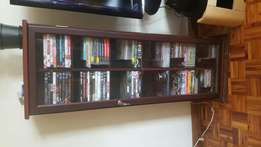 Solid Wood lockable DVD and CD Display Stands