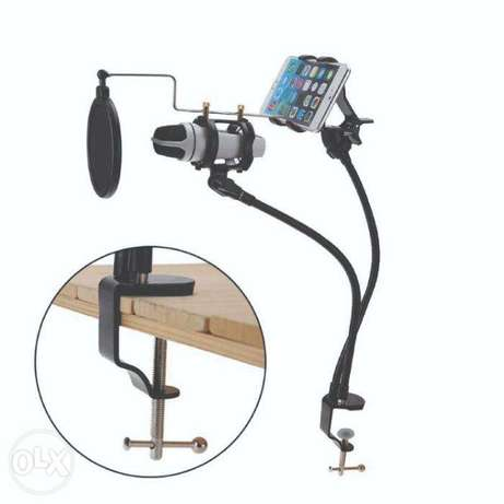 Brand New Clamp Desk Microphone & Cell Phone Stand