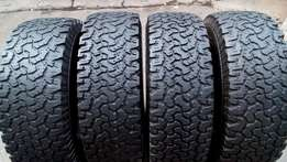 4X4 BF Goodrich All-Terain 4 X265/65/17 Tyres for sell