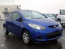 Blue mazda Demio on sale