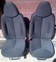 Front 2 Door Type Cloth SEATS - From Toyota Aygo Hatchback