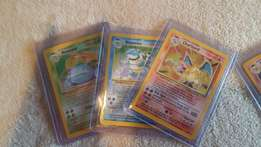 Base set pokemon holo and common and rare cards for very good price
