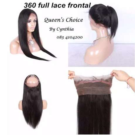 QUEEN'S CHOICE 360 degree full lace frontal closure Sunninghill - image 1