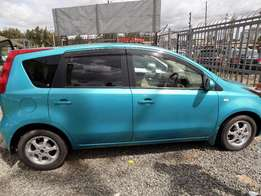 nissan note clean car with low millage.