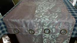 New, 2.4m embossed lavendar curtains with eyelits, black-out