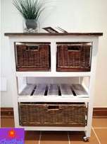 3 Basket Shelf Unit