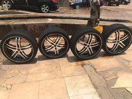 original home use rims with tyres going for cool price