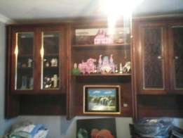 ( Antique yellow wood )Complete lounge wall unit