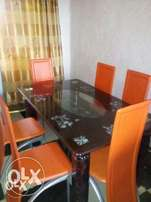 E-A Six Seater Glass Dining Table