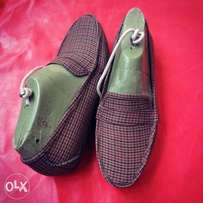 Xteem-Handmade checkers loafers