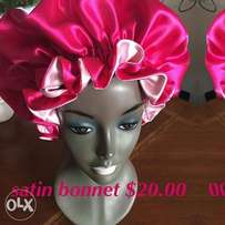 Satin bonet for natural hair