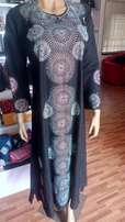 Black abaya with exquisite stone design, also suuni Indian design