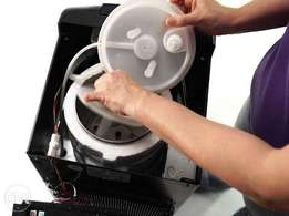 Water dispenser repairs and sanitization/Cleaning