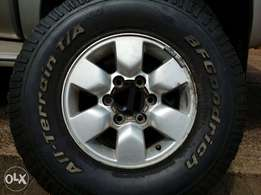 """Title: Toyota Hilux 15"""" Rim Spare mag tyre x1"""