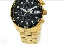 Emperor Armani gold plated watch
