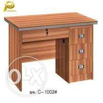 Office table brown one sided 1m on sale