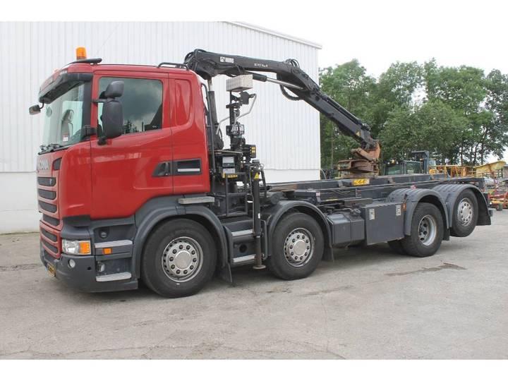 Scania Containervrachtwagen Met Hiab Kraan - 2014