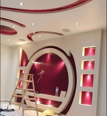 All works of gypsum board and its decorations