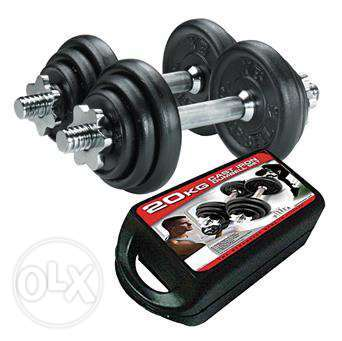 20Kg Dumbbell Set - Free Delivery - 18 Rials Only