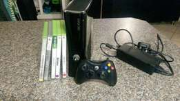 Xbox 360 250GB with games for sale