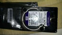 6 terrabite SATA 64MB WD purple serveilance hardrive condition new ask