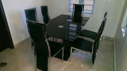 Two leg dining table black by6