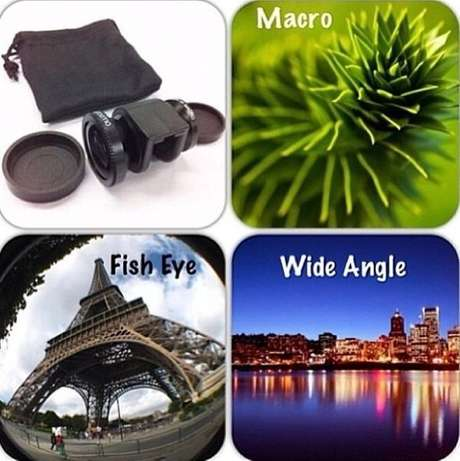 Universal 3-in-1 Clip-On Wide Angle Fisheye Macro Lens Set iPhone Andr Nairobi CBD - image 3