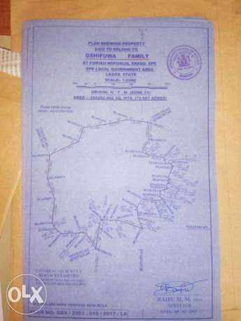 Acres of Land for sale at various location in epe Lagos stste Ikorodu - image 1