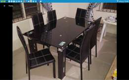 6setter dining table T74 black