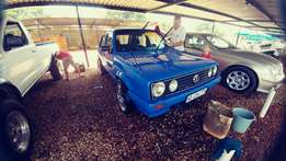 Vw golf 1 with 17 inch mags 1.4 carburator