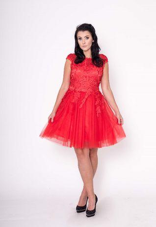 457fa741c19382 Sukienka M Koronkowa M Czerwona L Tiulowy XL Dół Gorset S Wesele Sanok -  image 2