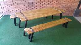 Wedgewood Garden / Patio Table & Benches