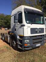 MAN double axle truck tractor