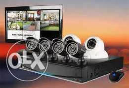 Night Vision new Brand CCTV cameras 4 channel complete setup