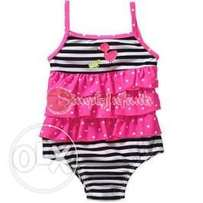 Child of Mine by Carter's Baby Girl One-Piece Stripes/Polka Dots Swims