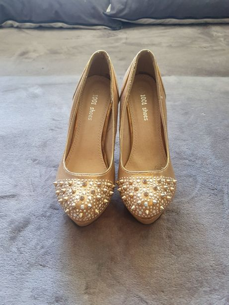 Złote buty na platformie 39 Rybnik • OLX.pl