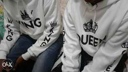 White King & Queen couple's hoodies